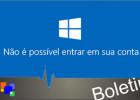 Windows 10 – Erro ao fazer logon
